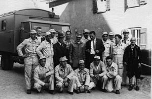 Mannschaft des THW Straubing vor 1960